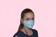 Предпазна маска за деца светло синя